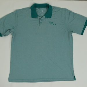 Rocawear Big & Tall 4XB Green   Polo Cotton Solid